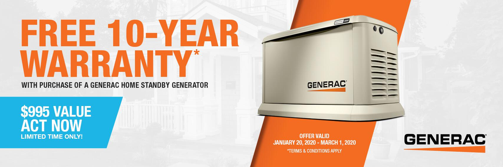 Homestandby Generator Deal | Warranty Offer | Generac Dealer | Fort Atkinson, WI